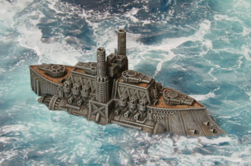 Dystopian Wars Kingdom of Britannia Ruler Class Battleship HMS King Richard III