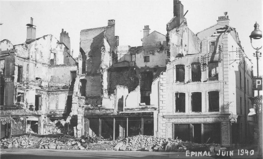 destruction of Epinal in 1940