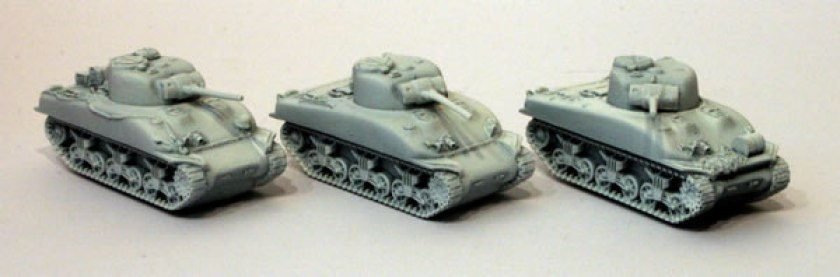 Painting Sherman Tanks