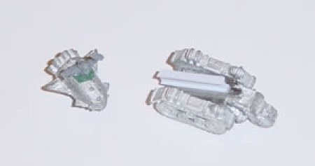 This photograph shows the model prior to fixing the Grot Bomb to the Launcha and then painting.
