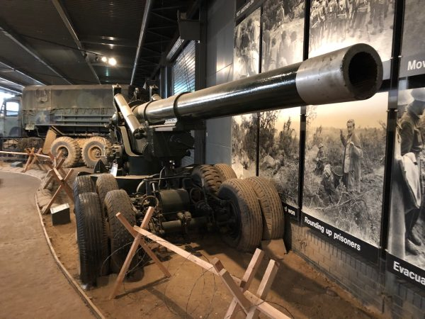 British BL 7.2 inch Howitzer on an US Long Tom gun carriage