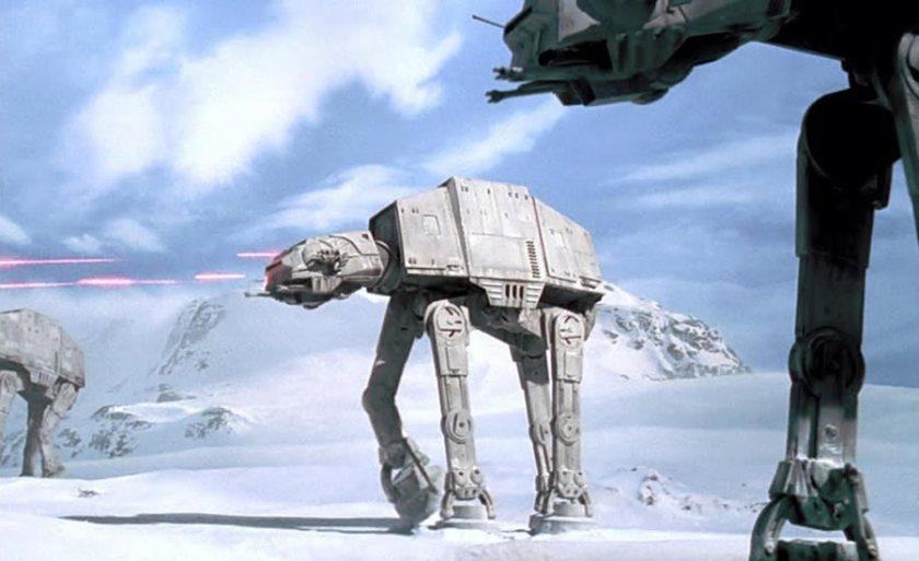 AT-AT Walkers attacking the Rebel base