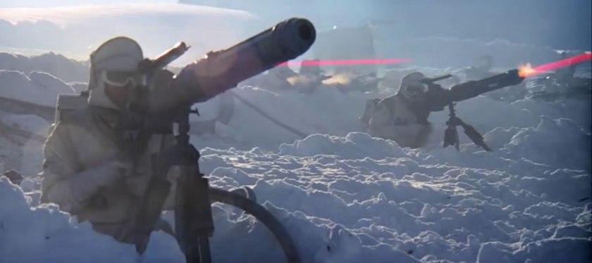 Rebel Troopers firing heavy blasters