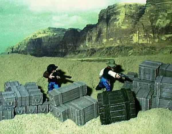 Adventurers in a desert setting