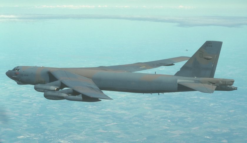 USAF B52 off the coast of Wales