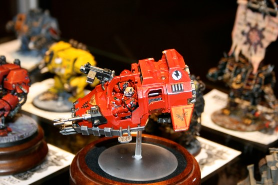 Blood Angels Land Speeder, a Golden Demon entry from GamesDay 2007.