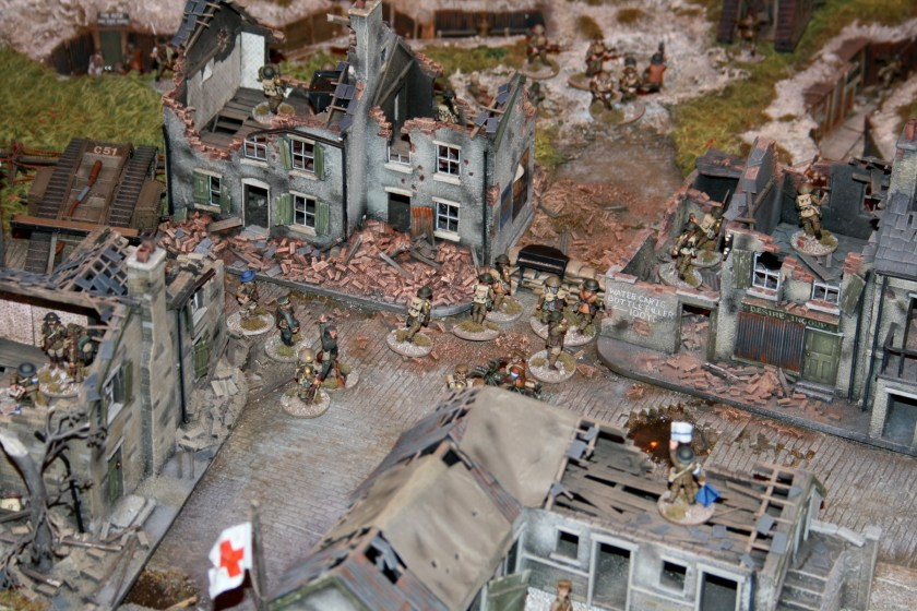 Ruined French village