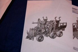 CAD drawing of the Ork Trukk.