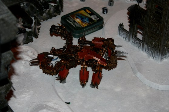Brass Scorpion in the snow from GamesDay 2007.