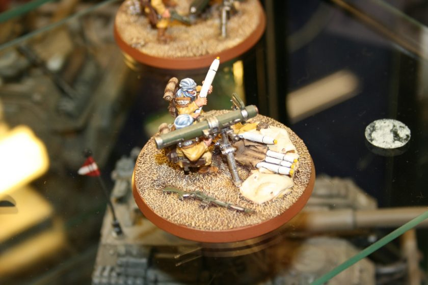Tallarn Autocannon Team. From the Forgeworld displays at GamesDay 2007.