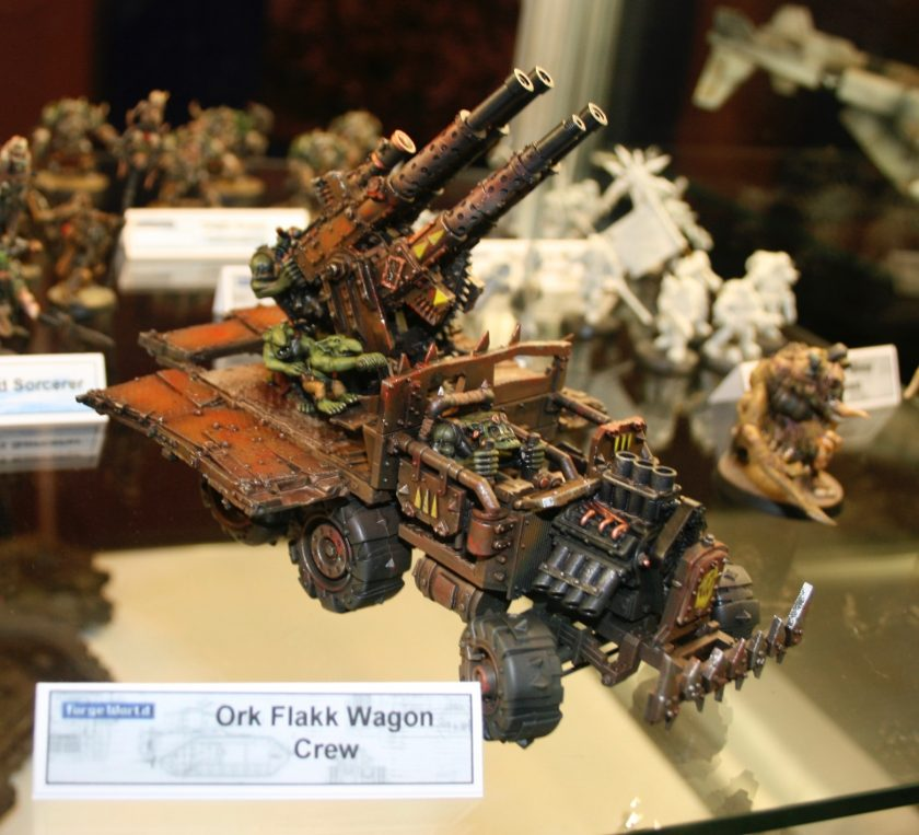 Forge World Ork Flakk Wagon taken at GamesDay 2008.