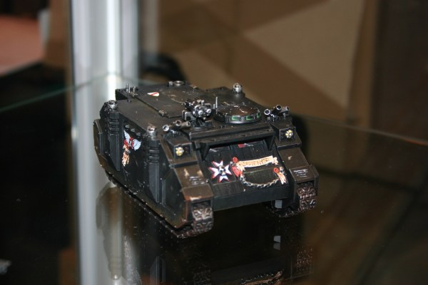 Black Templars Space Marine Rhino, from the 'Eavy Metal display cabinets