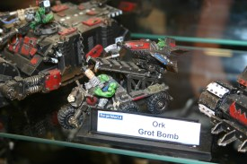 The Forgeworld Grot Bomb Launcha, note how the Wartrakk has wheels insteads of tracks.