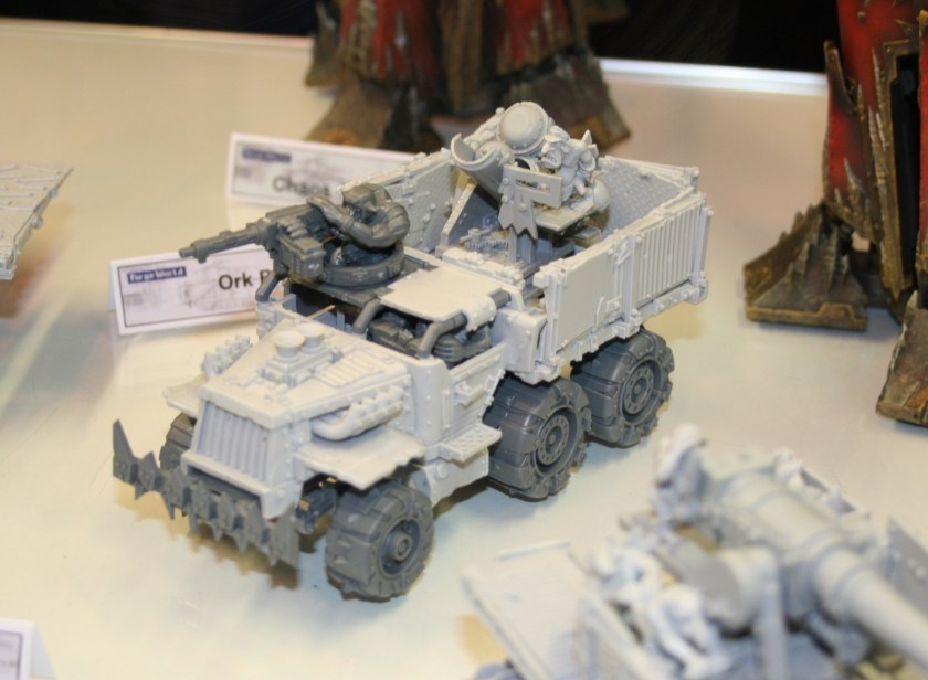 Forge World Ork Trukk with enclosed cab and Big Lobba.