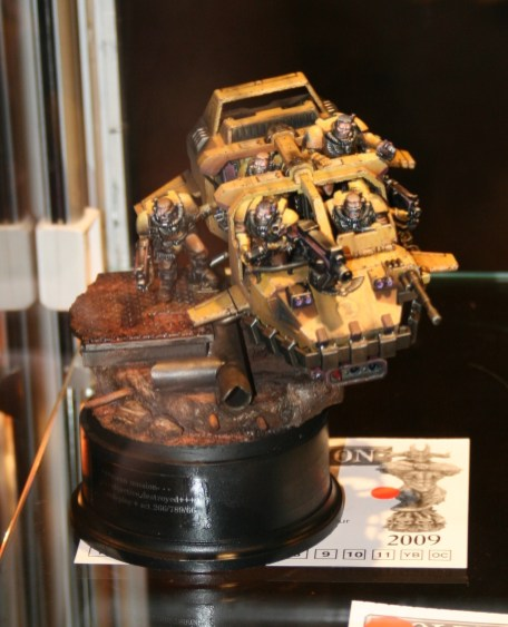 This Space Marine Land Speeder Storm won Gold in the vehicle category.