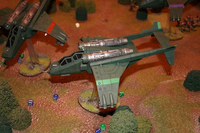 Imperial Navy Valkyrie from a demonstration game at GamesDay 2009.