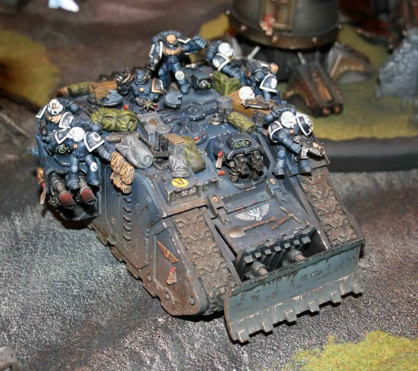 Land Raider from a display game at GamesDay 2009.