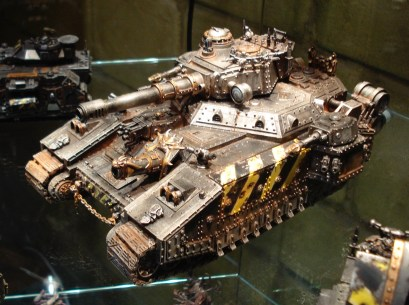 This is a rather good BaneBlade that was on display in Warhammer World in Nottingham. It is part of much larger Iron Warriors army by Christian Bryne.