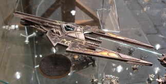 Chaos Hell Blade on display in Warhammer World in Nottingham. It is part of much larger Chaos army by Christian Bryne.