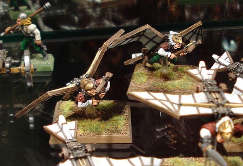 Birdmen Dogs of War on display at Warhammer World.