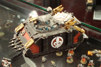 Sisters of Battle Rhino at Warhammer World