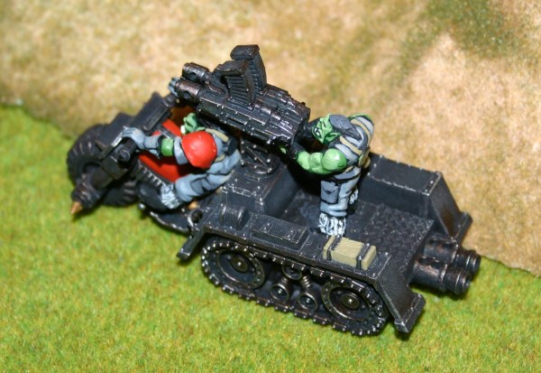 An Ork Wartrakk preparing to fire...