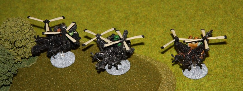 Ork Deff Koptaz speed along the flank...
