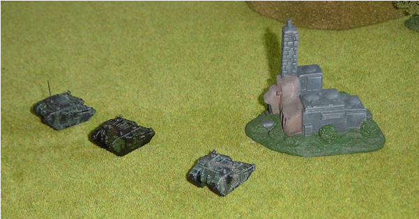 Not a very exciting picture you may think, but this is in fact from one of my first games of Epic Armageddon....