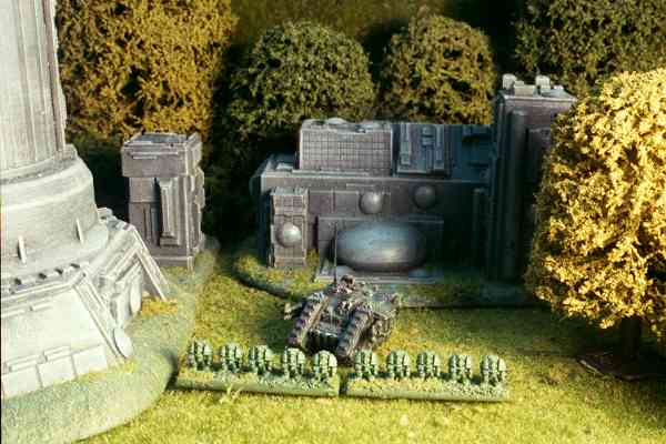 Terminators disembark from their Land Raider transport.