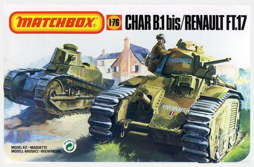 Matchbox Char B1 and Renault FT17