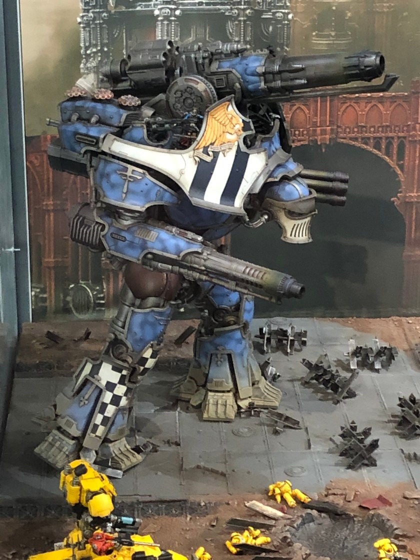 Warbringer Nemesis Titan on display at Warhammer World