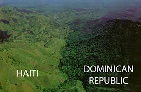 differences in haiti landscape with graphics