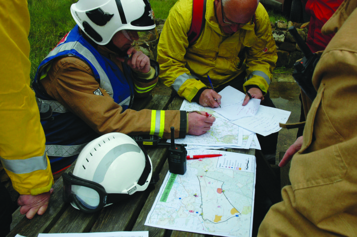 Incident Command at Wildfire Training Exercise - Harwood Forest, Oct 2013 - IFF Magazine
