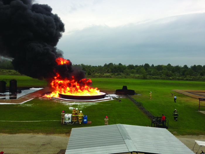 Large Scale Fire Demonstration, BEST Complex, Beaumont, Texas