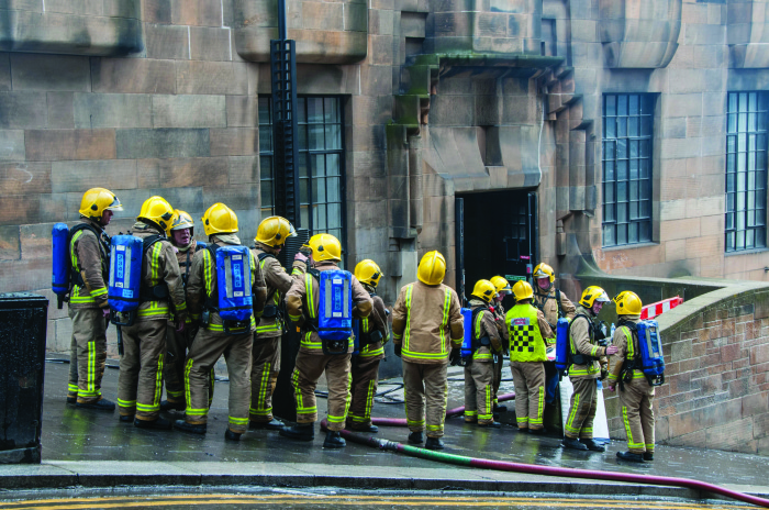 Guardians of the Mackintosh: Firefighters save world-renowned building in Glasgow from a devastating blaze