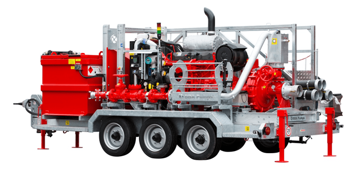 BBA emergency pump units for a nuclear power plant