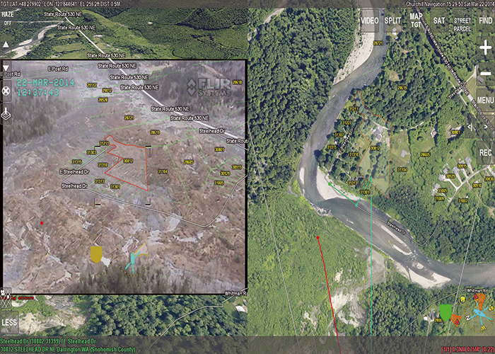 Before and After – using synthetic imagery in the Oso mudslide.