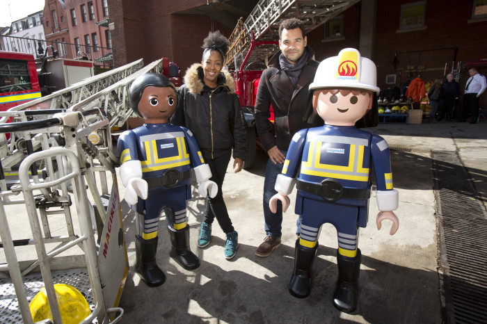 London Fire Brigade use PLAYMOBIL toys to teach children