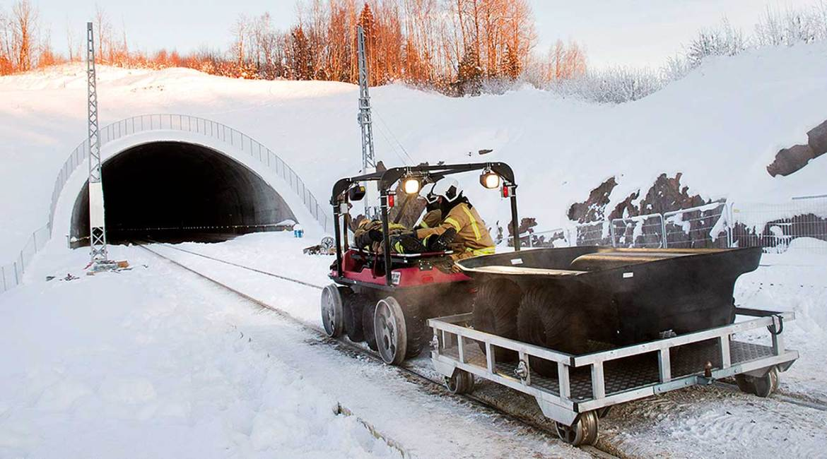 For Norway's first responders, the ARGO has proven itself as the ONLY small vehicle which can work with rail wheels for train or subway tunnel rescues, and with the high load capacity and terrain capabilities to boot.