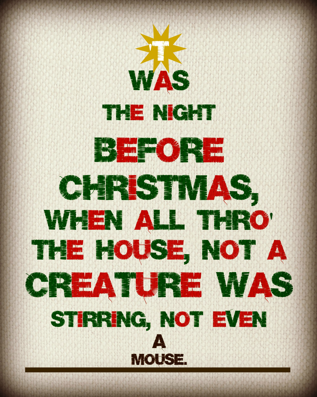 Twas The Night Before Christmas Free Printable If I