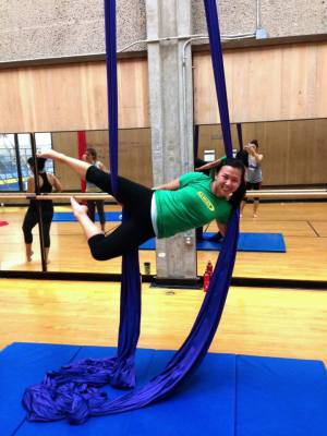 Left my comfort zone of staying on the ground and learned the art of Aerial Silks