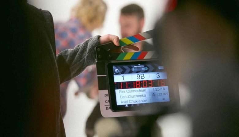 Film director - clapper board