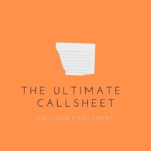 Callsheet