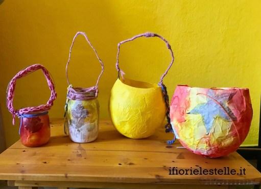 lanterne fatte a mano per San Martino
