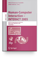 TC 13 International Conference Human-Computer Interaction (INTERACT 2005) Books