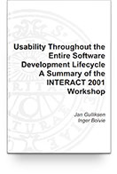 Usability Throughout the Entire Software Development Lifecycle (INTERACT'2001) Book