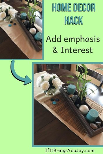 Home decor hack to add emphasis and interest to any room.