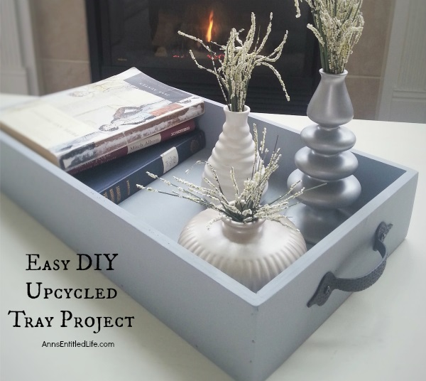 DIY upcycled drawer is now a tray