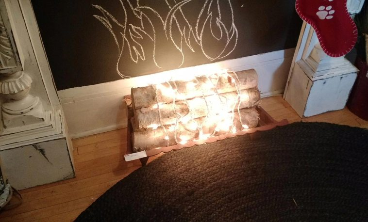 Decorating with birch logs straight out of nature