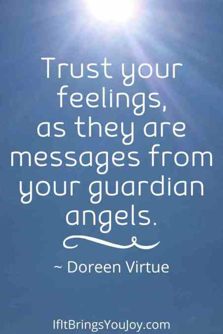 Quote by Doreen Virtue about angel messages